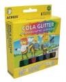 Cola Glitetter contém 6 cores - Acrilex
