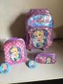 Kit mochila princesa flora, Clio, com lancheira e estojo. FL2183k