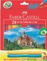 Lapis de cor Faber-Castell 24 cores + 2 canetinhas