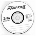 CD-RW Regravável (Recordable) de 80 min 700MB - Maxprint