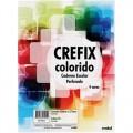 Refil para fichário Crefix Colorido 96 folhas 4 cores